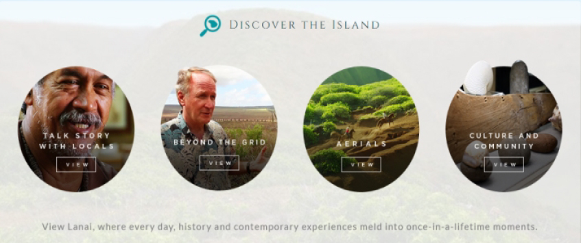 Interactive Website for Lanai Island